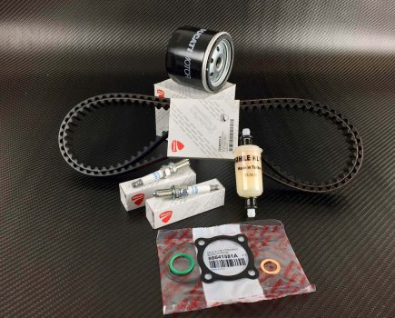 Ducati Diavel service kit; timing belts, spark plugs, oil- fuel filter,O-rings, Gasket