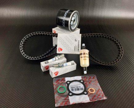 Ducati Diavel service kit; timing belts, spark plugs, oil- fuel filter,O-rings, Gasket