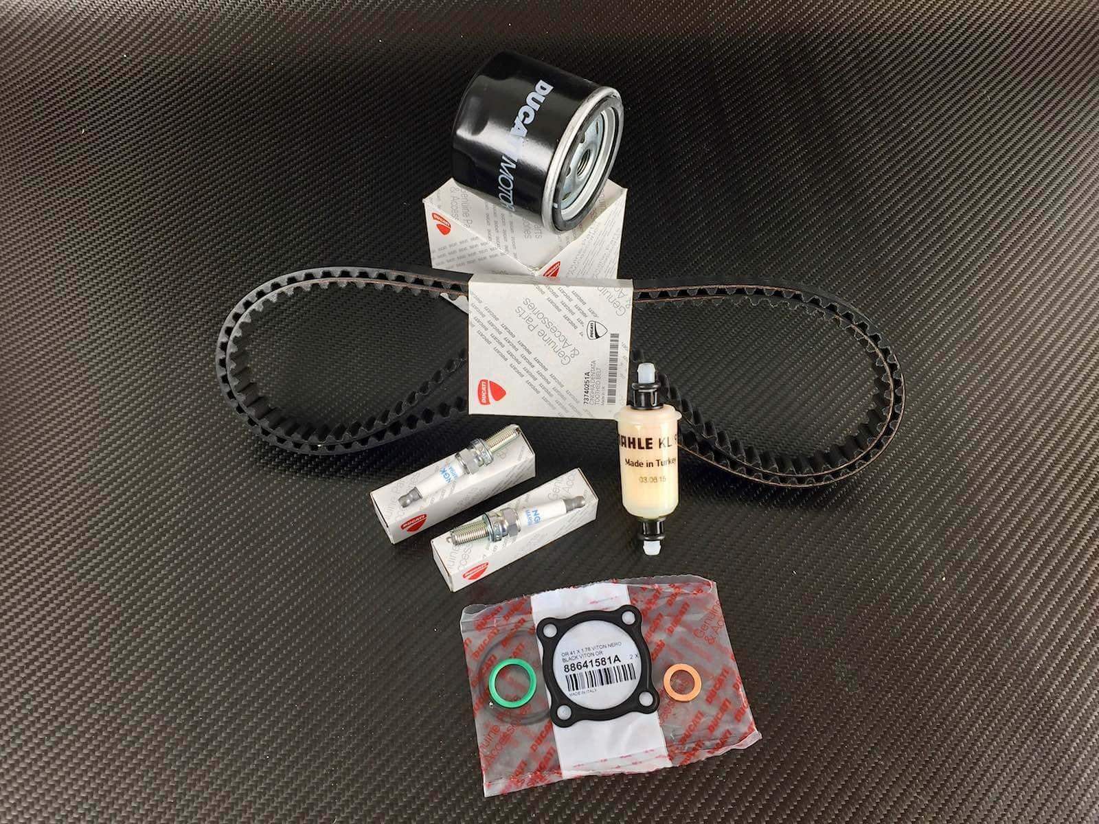 ducati diavel service kit; cam timing belts, oil-, fuel filter