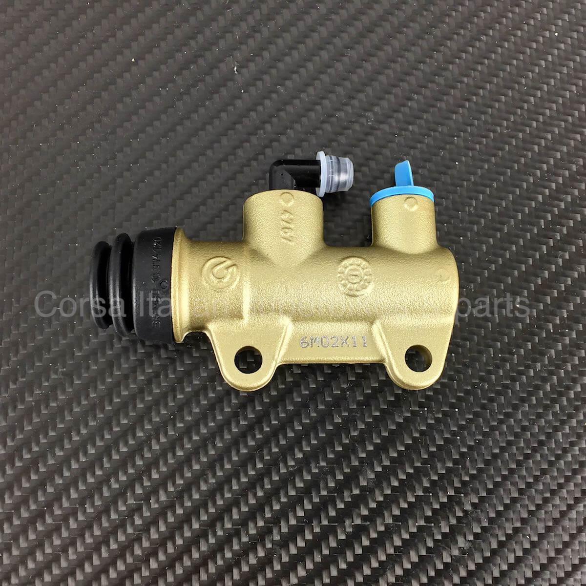 OEM Ducati Brembo 11mm Gold Rear Brake Caliper Master Cylinder Pump 62540061A