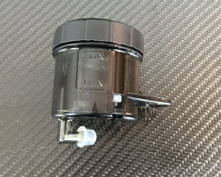 Genuine Ducati black smoke brake fluid reservoir. Ducati part-no. 58540341A repl. 58540221A.