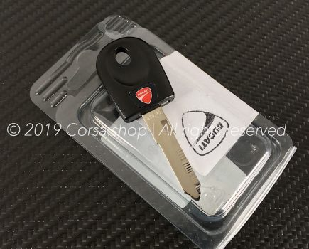 Genuine Ducati blank key. w. transponder. Ducati Part-no: 59840161A.