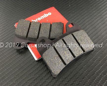 Genuine Ducati Brembo brake pads. Size: 75,1 x 55,5 x 8,7. Compound: Carbon Ceramic (Ferit I-D 450FF). Ducati part-no. 61340201A.