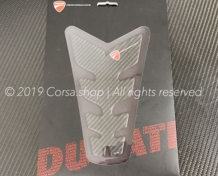 Genuine Ducati branded carbon fiber tank protector. Ducati part-no. 97480041A repl. 96901212A.