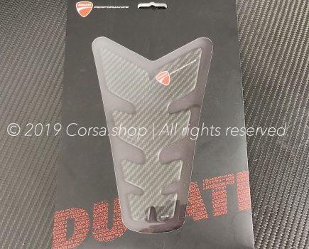 Genuine Ducati branded carbon fiber tank protector. Ducati part-no. 97480041A repl. 96901212A.