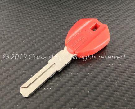 Genuine Ducati blank key. w. transponder. Ducati Part-no: 59840311B.