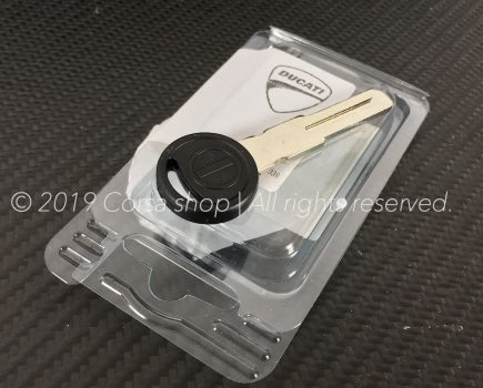 Genuine Ducati blank key without transponder. Ducati Part-no: 59840291A.
