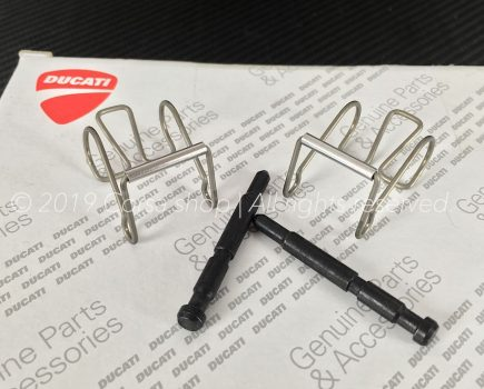 Genuine Ducati Brembo P4 34/34A Brake caliper pad pin repair kit with springs. Ducati Part-no: 61240211A. Brembo 122484955