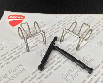 Genuine Ducati Brembo P4 34/34A Brake caliper pad pin repair kit with springs. Ducati Part-no: 61240211A. Brembo 122484955