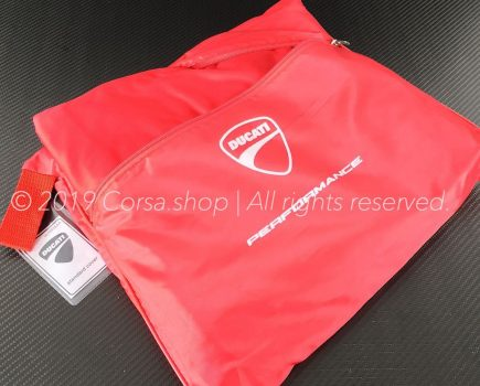 Genuine Ducati Performance indoor bike storage canvas / dust cover. Ducati part-no. 967893AAA replaces 967004AAA, 967003AAA & 19011.