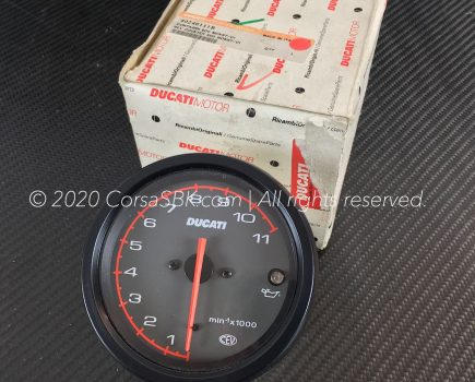 Genuine Ducati RPM- / REV counter / tachometer. Ducati part-no. 40240111B replaces 40240111A.