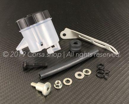 Genuine Brembo RCS brake fluid reservoir (45ml) mounting kit. Brembo part-no. 110A26385.