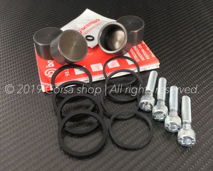 Genuine Brembo P4 32D (Ø 32mm) brake caliper repair kit. Brembo part-no. 120279960.