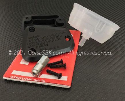 Genuine Ducati Brembo clutch fluid reservoir cap / cover set. Ducati part-no. 58540101A.